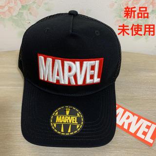 マーベル(MARVEL)の【新品未使用】MARVEL マーベル ロゴ キャップ ブラック(キャップ)