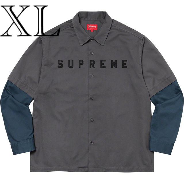 Supreme 2-Tone Work Shirt Dark Grey XL メンズのトップス(シャツ)の商品写真