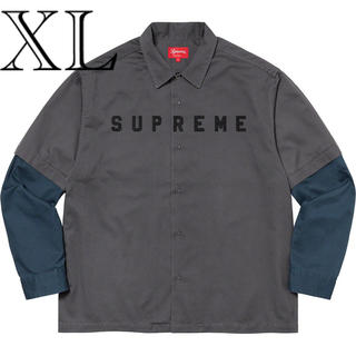 Supreme - Supreme 2-Tone Work Shirt Dark Grey XL