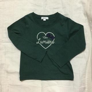 アーヴェヴェ(a.v.v)のa.v.v カットソー 緑 110センチ(Tシャツ/カットソー)