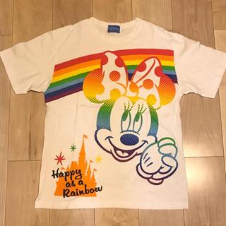 Disney - ミニーちゃん レインボーTシャツ ディズニー
