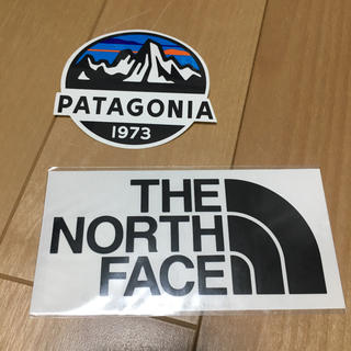 ザノースフェイス(THE NORTH FACE)の【正規品】2種 パタゴニア ノースフェイス ステッカー(登山用品)
