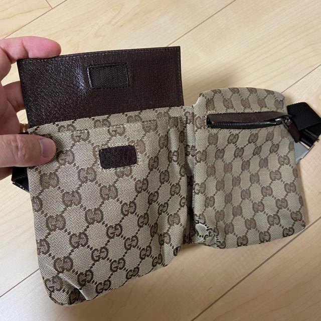 Gucci(グッチ)の極美品 グッチ ウエストポーチ ウエストバッグ 28566 GGキャンバス メンズのバッグ(ウエストポーチ)の商品写真