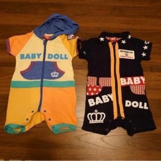 ベビードール(BABYDOLL)の【送料無料】BABYDOLL ベビードール ベビー服 2枚セット(ロンパース)