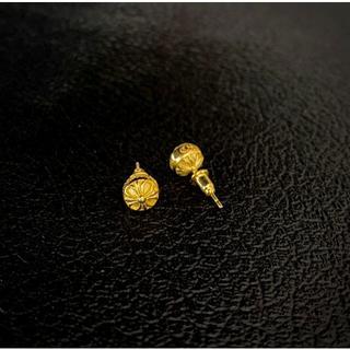 Chrome Hearts - ✨丸ピアス✨925  刻印 ゴールド 18k 両耳 ピアス 片耳のみOK