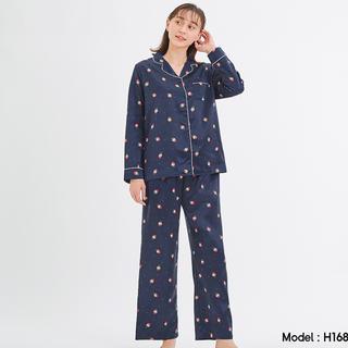 GU - gu サテンパジャマ  いちご Lサイズ 長袖