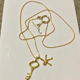 K18 K10 鍵 キー K モチーフ ゴールド ネックレス