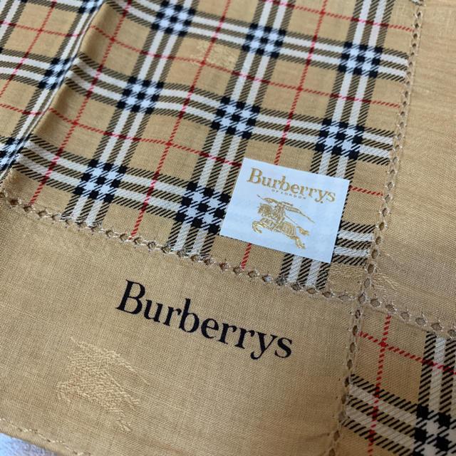 BURBERRY(バーバリー)の未使用 バーバリー 大判ハンカチ  定番チェック 透かしロゴ入り レディースのファッション小物(ハンカチ)の商品写真