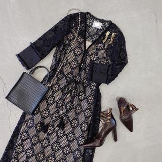 Ameri VINTAGE - Ameri VINTAGE  GEOMETRY LACE DRESS