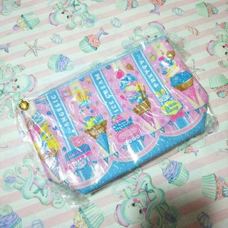 Angelic Pretty - Ice Cream Parlorピンク サックス ポーチ