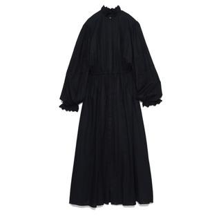 IENA - CASA FLINE完売エンブロイダリースタンドカラーレースワンピース♡ブラック