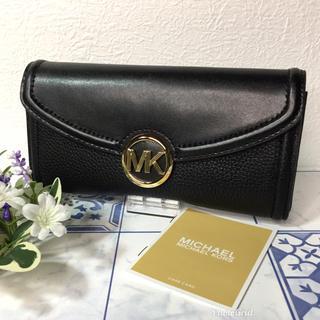 マイケルコース(Michael Kors)のマイケルコース  長財布 二つ折り ブラック 【新品】(財布)