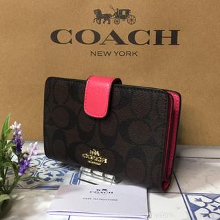 コーチ(COACH)のコーチ 折り財布  二つ折り ローズピンク 【新品】(財布)
