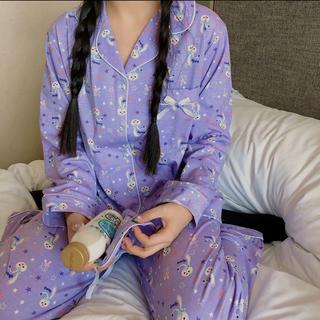 日本未発売 ステラルー  パジャマ ルームウェア アイマスク付き Lサイズ