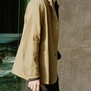 コモリ(COMOLI)の(求) 20SS COMOLI ピッコロ サイズ44 リネンコットジャケット(テーラードジャケット)