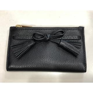 ケイトスペードニューヨーク(kate spade new york)のケイトスペード♡ミニ財布♡ブラック×ベビーピンク(財布)