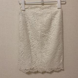 ニジュウサンク(23区)の23区 レーススカート XSサイズ オンワード樫山(ひざ丈スカート)