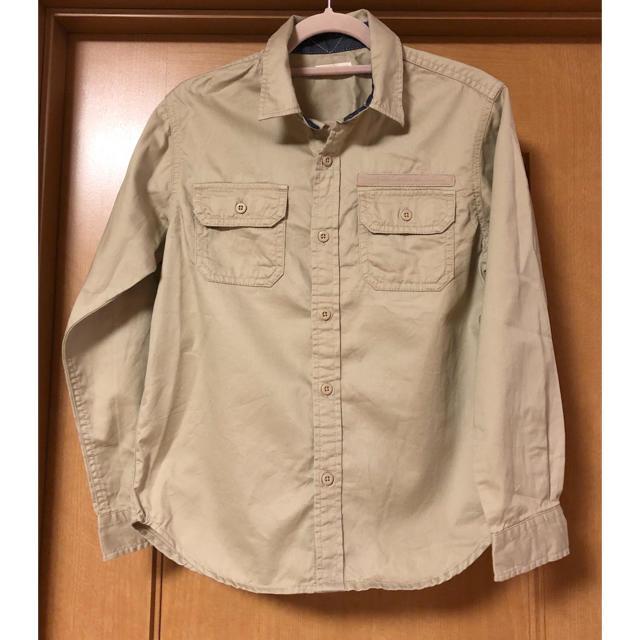 GU(ジーユー)のGU ミリタリーシャツ キッズ 新品 140 ボーイズ ワークシャツ 長袖シャツ キッズ/ベビー/マタニティのキッズ服男の子用(90cm~)(ブラウス)の商品写真