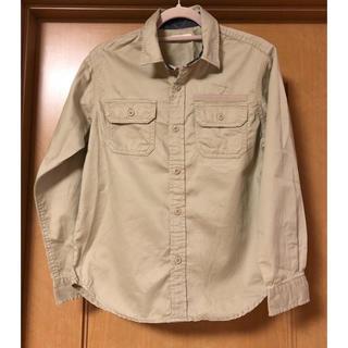 GU - GU ミリタリーシャツ キッズ 新品 140 ボーイズ ワークシャツ 長袖シャツ