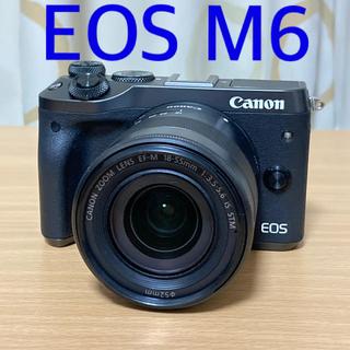 Canon - EOS M6 18-55mm レンズキット canon ミラーレス一眼
