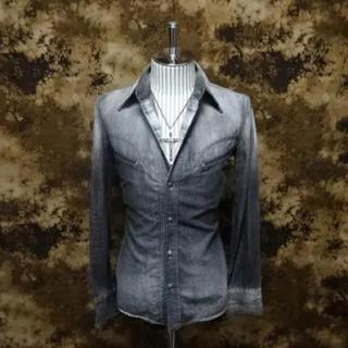 イサムカタヤマバックラッシュ(ISAMUKATAYAMA BACKLASH)の(定価52800)バックラッシュBACKLASH・デニムシャツ(シャツ)