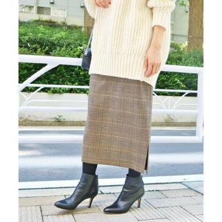 IENA - ウールチェックタイトスカート