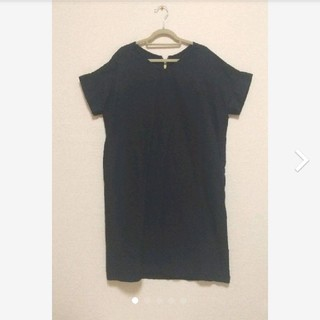 UNTITLED - UNTITLED Dessin 紺色ワンピース ポケット付