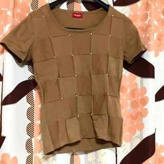INGNI - Tシャツ カットソー トップス ブラウン ベージュ イング レディース