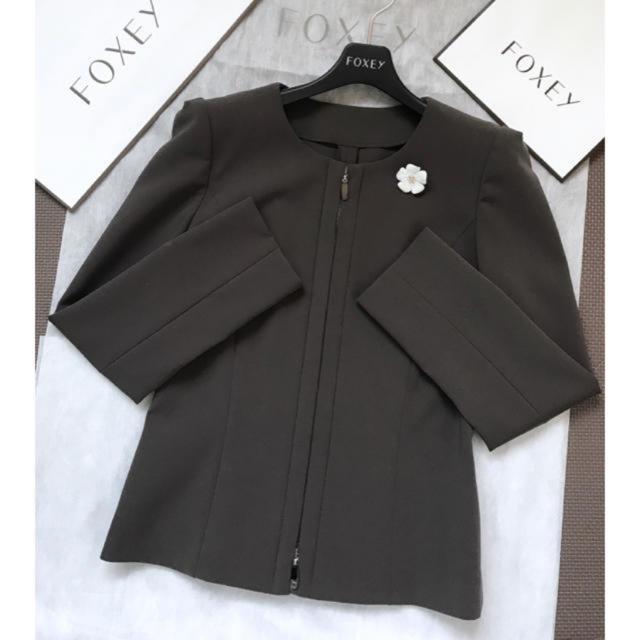 FOXEY(フォクシー)のFOXEY✨マトリックスジャケット38 レディースのジャケット/アウター(ノーカラージャケット)の商品写真