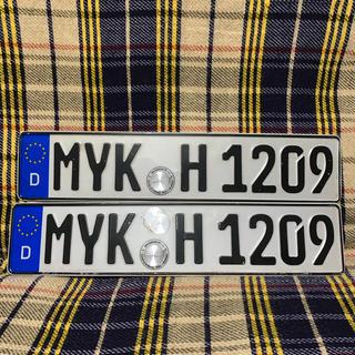 アウディ(AUDI)の1209 本物 ユーロナンバープレート ドイツ BMW ベンツ アウディポルシェ(車外アクセサリ)