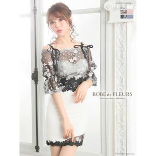 ROBE - ROBE de FLEURS フラワー刺繍レース×オフショルミニドレス