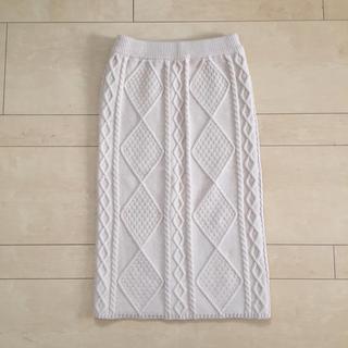 GU - かぎ編みニットスカート