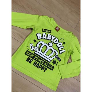 ベビードール(BABYDOLL)の【美品】BABYDOLLベビードール★長袖ロゴTシャツ ロンT 110(Tシャツ/カットソー)