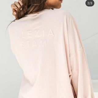 ALEXIA STAM - alexia stam ピンク ロゴTシャツ