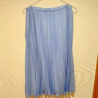 ストラ(Stola.)のstola プリッツスカート 水色 Lサイズ(ひざ丈スカート)