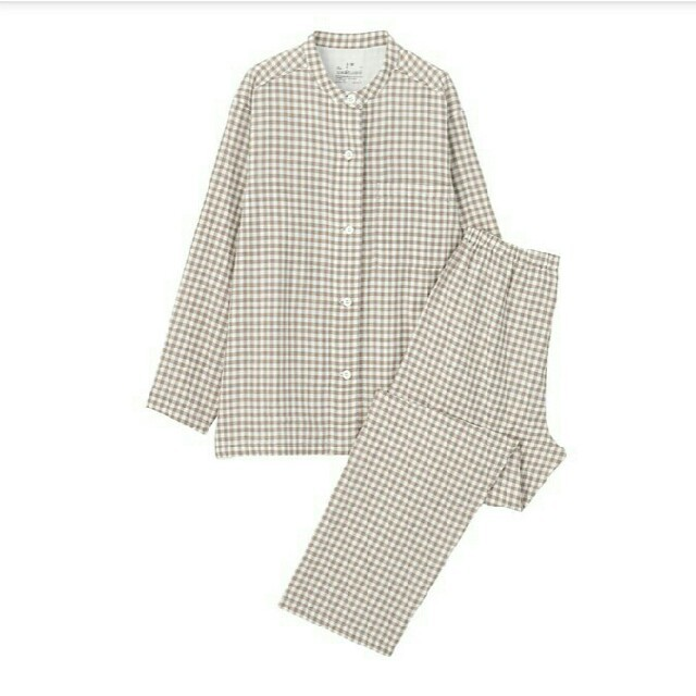 MUJI (無印良品)(ムジルシリョウヒン)の新品 無印良品脇に縫い目のない二重ガーゼスタンドカラーパジャマ レディースのルームウェア/パジャマ(パジャマ)の商品写真
