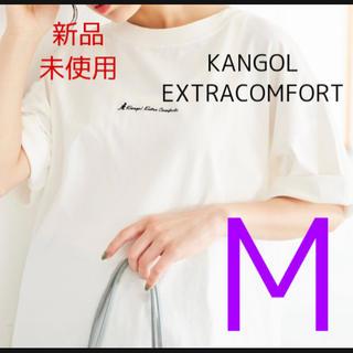 カンゴール(KANGOL)の【新品】KANGOLEXTRACOMFORT 裾ラウンドチュニックTシャツ白M(Tシャツ(半袖/袖なし))
