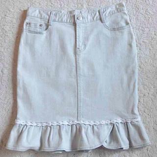リズリサ(LIZ LISA)のリズリサ フレアデニムスカート(ひざ丈スカート)