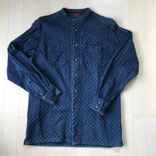 衣 藍染チェックシャツ M(シャツ)
