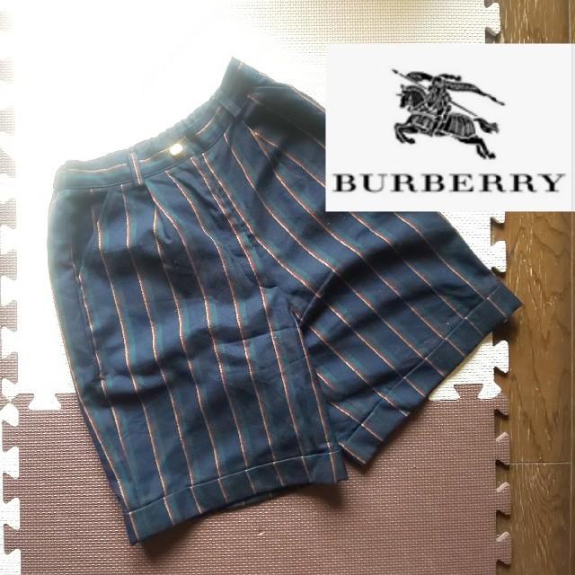 BURBERRY(バーバリー)のBURBERRY バーバリー ハーフパンツ ストライプ 150 キッズ/ベビー/マタニティのキッズ服女の子用(90cm~)(パンツ/スパッツ)の商品写真