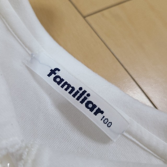 familiar(ファミリア)のfamiliar 100 綿 ブラウス キッズ/ベビー/マタニティのキッズ服女の子用(90cm~)(ブラウス)の商品写真