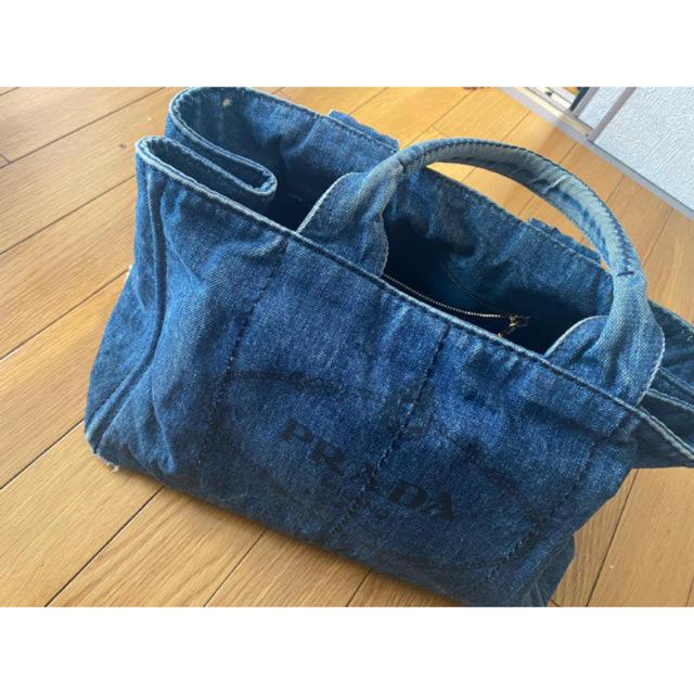 PRADA(プラダ)のプラダ カナパ トートバッグ デニム   レディースのバッグ(トートバッグ)の商品写真