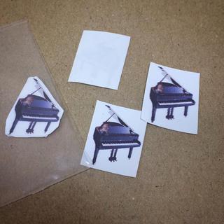 ピアノアイロンプリント6枚(各種パーツ)