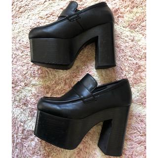 エモダ(EMODA)のEMODAボリュームウッドローファーち様(ローファー/革靴)