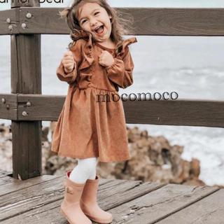 キャラメルベビー&チャイルド(Caramel baby&child )の【試着のみ🍁】コーデュロイ ワンピース🌿(ワンピース)