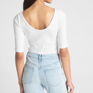 ギャップ(GAP)のGAP モダン バレエバックTシャツ ブラック(Tシャツ(長袖/七分))