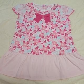 mikihouse - ミキハウス  リーナちゃん♪フリル付き花柄半袖Tシャツ  120