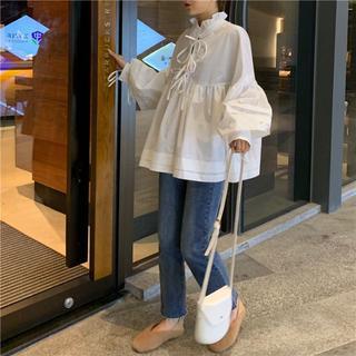 韓国 ファッション ブラウス フリル