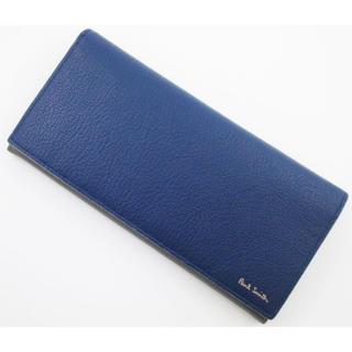 ポールスミス(Paul Smith)のラスト1点限定☆未使用品箱なし ポールスミス 人気かぶせ 長財布 ブルー(長財布)