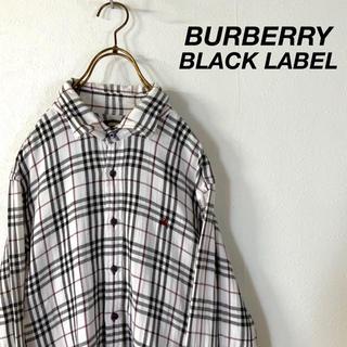 BURBERRY BLACK LABEL - BURBERRY BLACK LABEL ノバチェック デザインシャツ